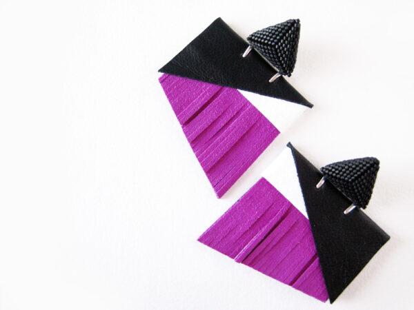 orecchini Parisien viola nero opaco