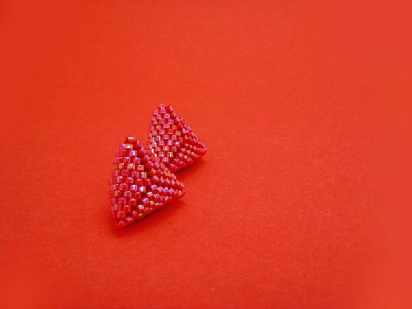 orecchini triangolini rossoarancio